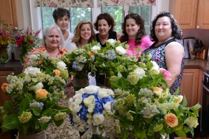 Flower arranging at Brewster by the Sea